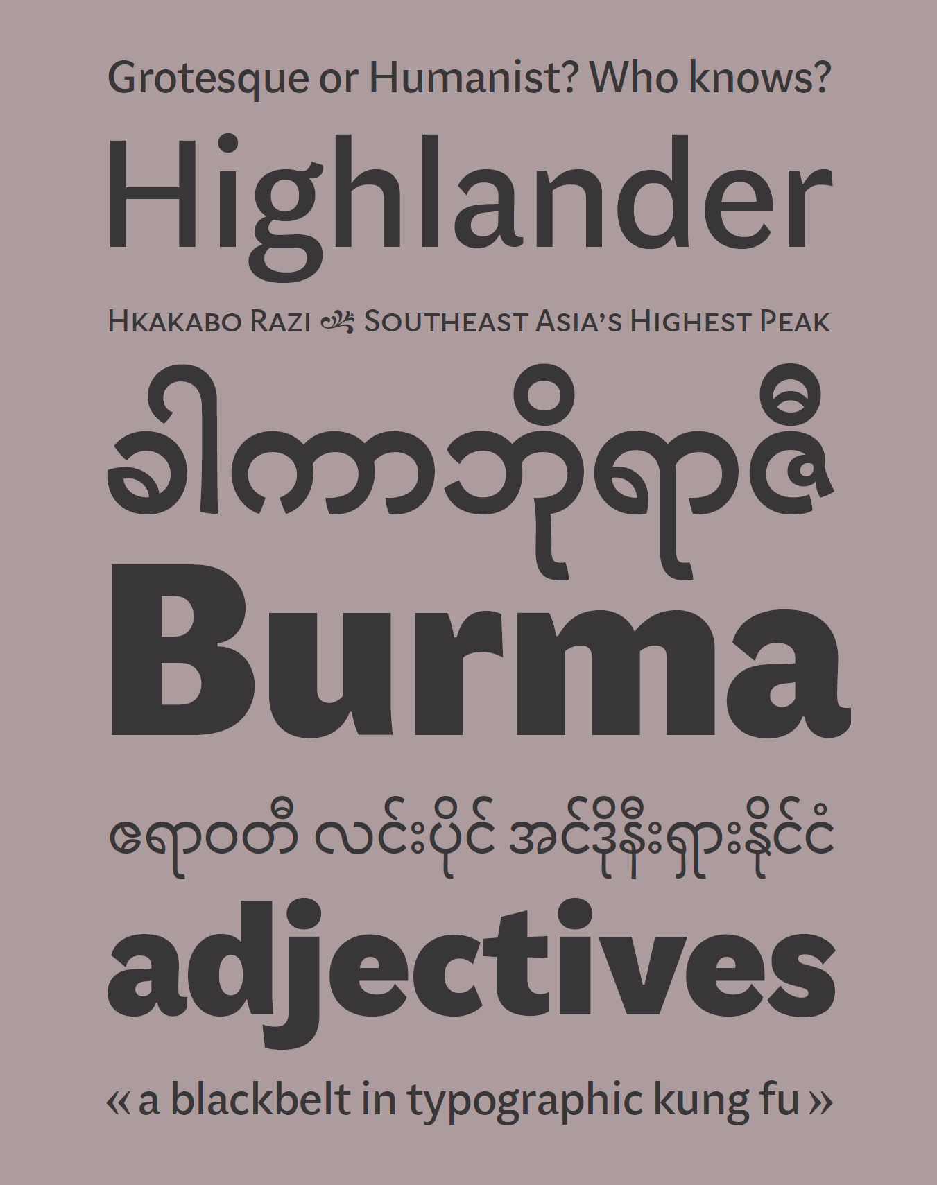 Lumen Sans typeface