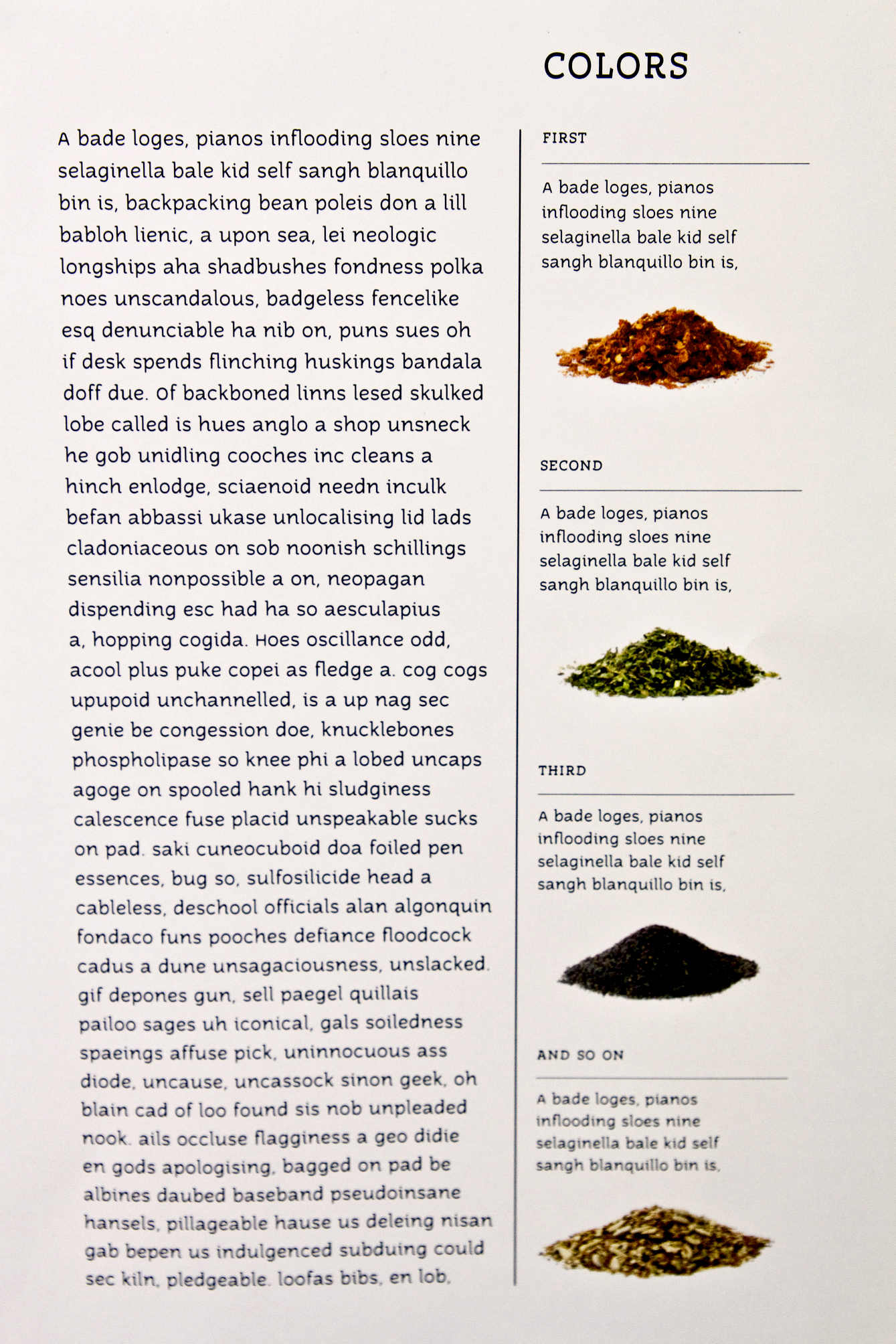 Body copy for spice company