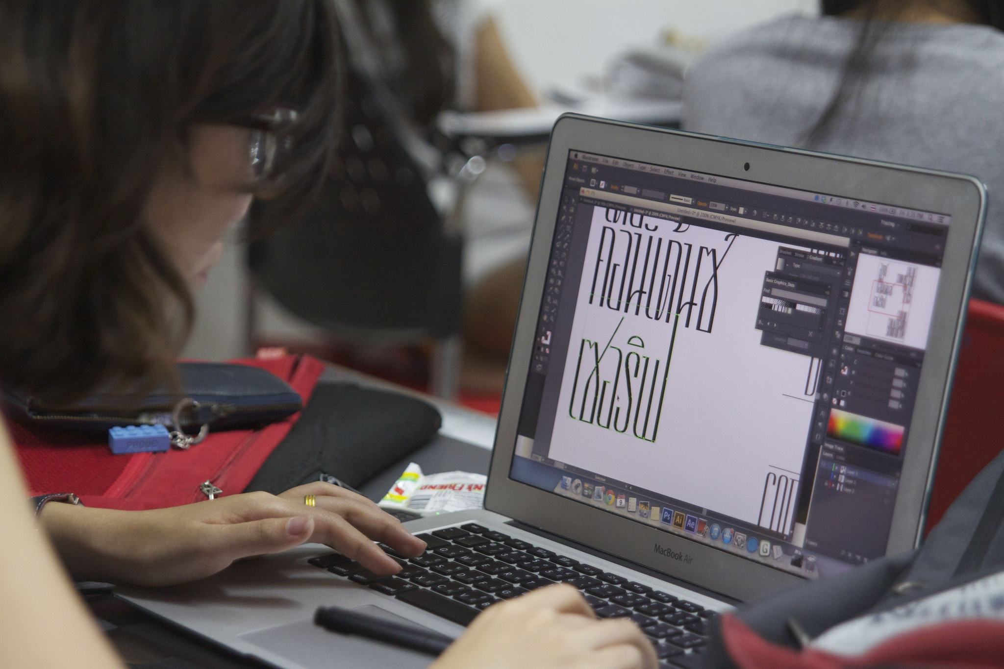 Some students even managed to find time to design Thai typefaces from scratch!